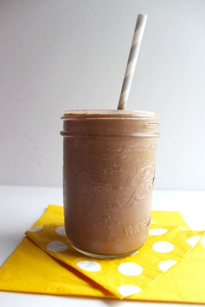 Choco smoothie. Picture taken from http://simplegreenmoms.com/skinny-chocolate-shake/